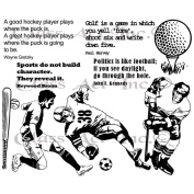 Chapel Road Background Cling Mounted Stamp 15cm x 20cm -All About Sports Plate