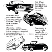 Chapel Road Background Cling Mounted Stamp 15cm x 20cm -Oldies But Goodies Car Plate