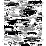 Chapel Road Background Cling Mounted Stamp 15cm x 20cm -Oldies But Goodies Car Background