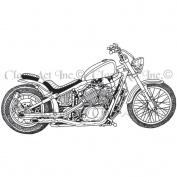 Class Act Cling Mounted Rubber Stamp 3.213cm X5.5in-Motorcycle 1