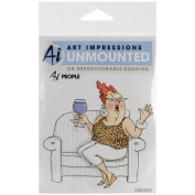Art Impressions People Cling Rubber Stamp, 9.5cm by 10cm , Celeste
