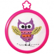 My 1st Stitch Owl Mini Counted Cross Stitch Kit