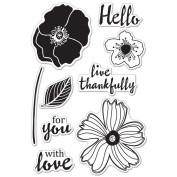 Hero Arts Clear Stamps 10cm x 15cm Sheet-Hello Flowers