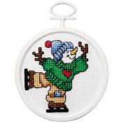 Janlynn Mini Counted Cross Stitch Kit 6.4cm Round