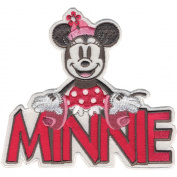 Disney Mickey Mouse Minnie With Name Iron-On Applique