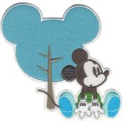 Disney Mickey Mouse Mickey W/Silhouette Iron-On Applique