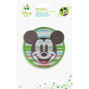 Disney Mickey Mouse, Mickey with Stripes Iron-On Applique