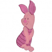 Disney Winnie The Pooh Piglet Posing Iron-On Applique
