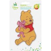 Disney Winnie the Pooh, Pooh Hugging Bear Iron-On Applique