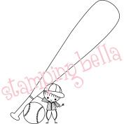 Stamping Bella Unmounted Rubber Stamp 10cm X3.25-Baseball Peep