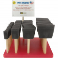 Poly-Sponge Brush Assortment With Counter Display-2.5cm , 5.1cm , 7.6cm & 10cm Widths