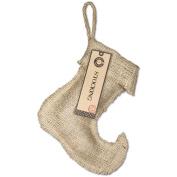 Burlap Small Jester Stocking, 20cm - 0.6cm x 23cm