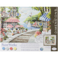 Dimensions Paintworks Paint by Numbers 36cm x 28cm Cafe by the Sea Paint Kit