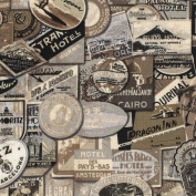 Eclectic Elements-Tim Holtz 110cm 100% Cotton D/R-Travel-Red