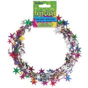 Star Wire Garland 20'/Pkg-Multicolor