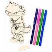 Wood Kit W/Markers-Dinosaur