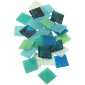 Vitreous Glass Mosaic Tile 2.5lb-Horizon Mix