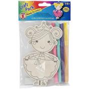 Wood Kit W/Markers-Princess