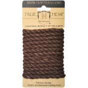 Hemp Rope 6mm 6.56'/Pkg-Brown