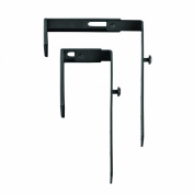 STEELMASTER Slot System Partition Hangers, for Use on 1.38 to 9.2cm Partitions, Set of 2, Black