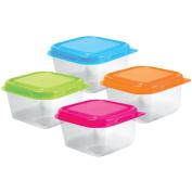 Bead Storage Containers W/Lids 6.4cm x 3.8cm 4/Pkg-