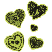 Inkadinkado Valentine Cling Stamps 5.1cm x 15cm Sheet-Sewing Hearts