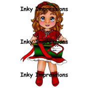 Inky Impressions Cling Rubber Stamps-Lili's Present, 8.5cm x 5.1cm