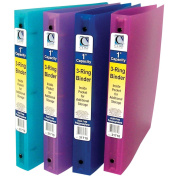 3-Ring Poly Binder 2.5cm Capacity-Assorted Colours
