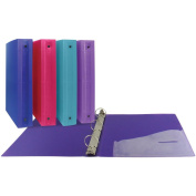 3-Ring Poly Binder 3.8cm Capacity-Assorted Colours