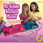 My Ribbon Barrette Maker Kit-Special Edition Pink, Orange And Blue