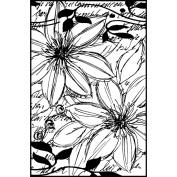 Magenta Cling Stamps 5.1cm x 8.3cm -Sketchy Floral