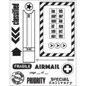 Clear Stamps 14cm x 19cm Sheet-Par Avion