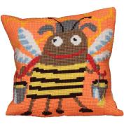 Mr Bizz Pillow Cross Stitch Kit