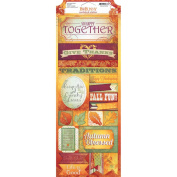 Autumn Song Cardstock Stickers 11cm x 30cm