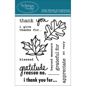Technique Tuesday Clear Stamps 7.6cm x 10cm -I Give Thanks