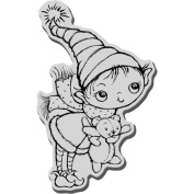 Stampendous Christmas Cling Rubber Stamp 8.9cm x 10cm Sheet-Teddy Kiddo