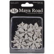 Mini Chipboard Set 30/Pkg-Snowflakes, .20cm To 5.6cm