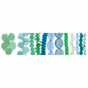 Blue Moon Beadshop Bead Strings-Czech Glass Green