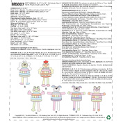 McCall Pattern Company M6807 Soft Animals Sewing Template, One Size Only