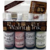 Walnut Ink Antiquing Solution 60ml Spray 4/Pkg-Walnut, Java, Terra-Cotta & Eucalyptus