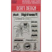 Uchi's Design Bilingual Clear Stamp Set 10cm x 15cm Sheet-Summer
