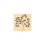 Penny Black Mounted Rubber Stamp 10cm x 10cm -Flourish Holly
