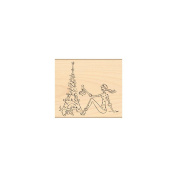Penny Black Mounted Rubber Stamp 8.9cm x 10cm -Parisian Christmas