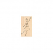 Penny Black Mounted Rubber Stamp 5.7cm x 11cm -Bright Star