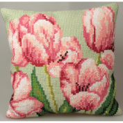 Tulipe A Droite Pillow Cross Stitch Kit-38cm - 1.9cm x 40cm