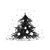 IndigoBlu Cling Mounted Stamp 7.6cm x 7.6cm -Ickle Christmas Tree - Dinkie