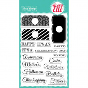 Avery Elle Clear Stamp Set 10cm x 15cm -All Occasion Tags