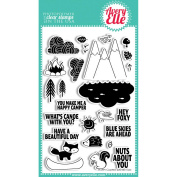 Avery Elle Clear Stamp Set 10cm x 15cm -Happy Camper