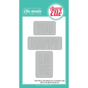 Elle-Ments Fill In The Blank Dies-Words, 3.3cm To 7cm