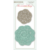 The Sweetest Thing Bluebell Crocheted Doilies 2/Pkg-Every Day